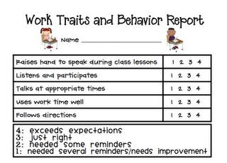 Weekly Behavior sheet--I like the idea of documenting when students EXCEED EXPECTATIONS