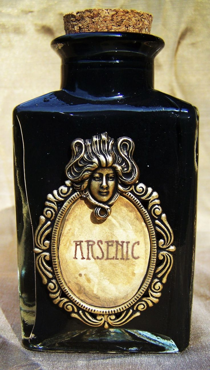 Arsenic Poison Bottle by doctormorose on Etsy I really really want the bottle!