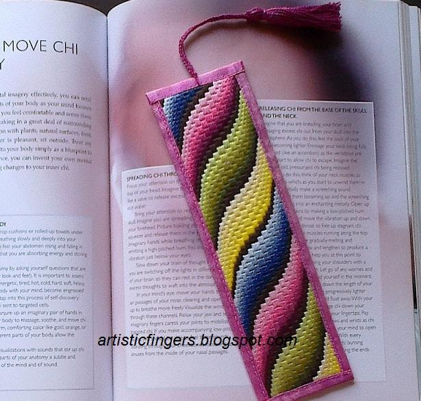 Bargello | like to show y all a bargello bookmark today it s for my mom
