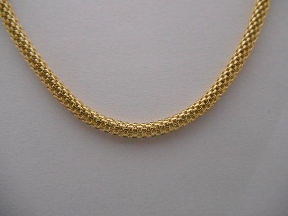 corrente cobra folheada a ouro 18 k R$ 58,00