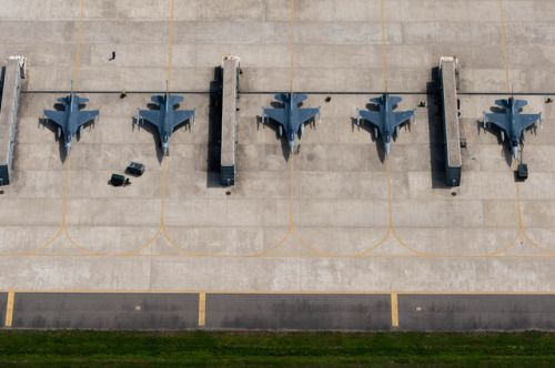 Maintainers prepare F-16 Fighting Falcons for training flights at Kunsan Air Base South Korea. The Airmen are assigned to the 8th Fighter Wing. (U.S. Air Force photo/Armando A. Schwier-Morales)