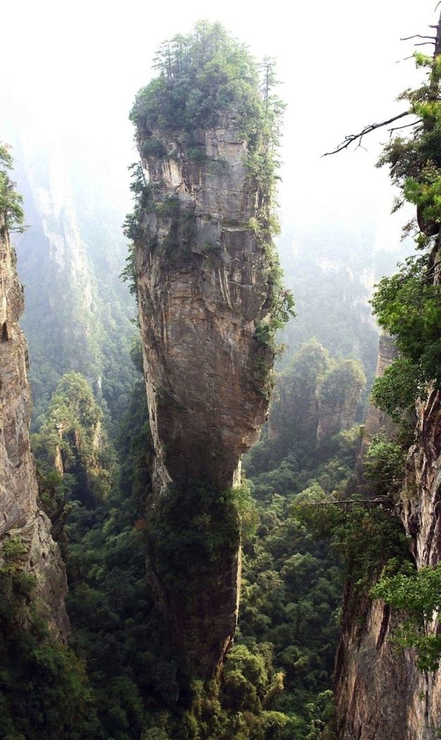 The Southern Sky Columnis located in the Zhangjiajie National Forest Park in China