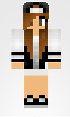 minecraft girl skins with brown hair and brown eyes - Google Search