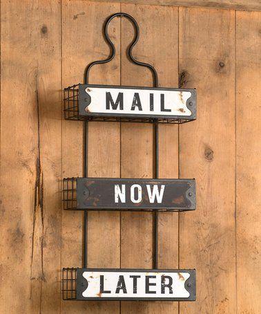 Love this Three-Tier Metal Mail Rack on #zulily! #zulilyfinds