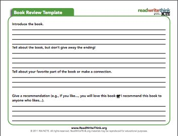 Here Is An Interesting Book Review Template to Use with Students in Class ~ Educational Technology and Mobile Learning