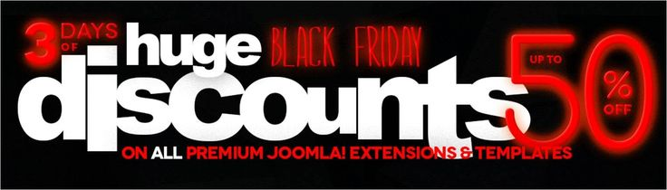 Get 50% off any RSJoomla! multi-site extension! http://bit.ly/1NbMgHA RSJoomla! Black Friday available 27 - 29 November 2015  http://bit.ly/1NQy7QI #BlackFriday #Joomla