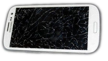 Screen Cracked Samsung Phone
