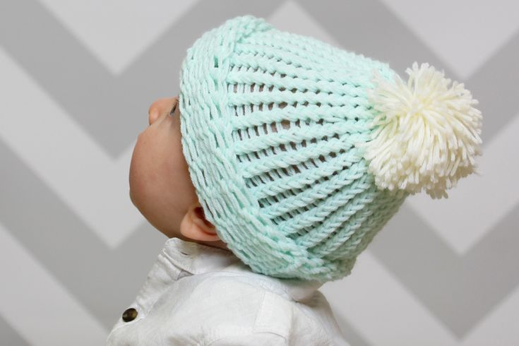 Knitting Loom Patterns Baby Hats : Baby Bobble Hat Knitting Loom Pattern Knitting looms, Loom and Knit baby hats