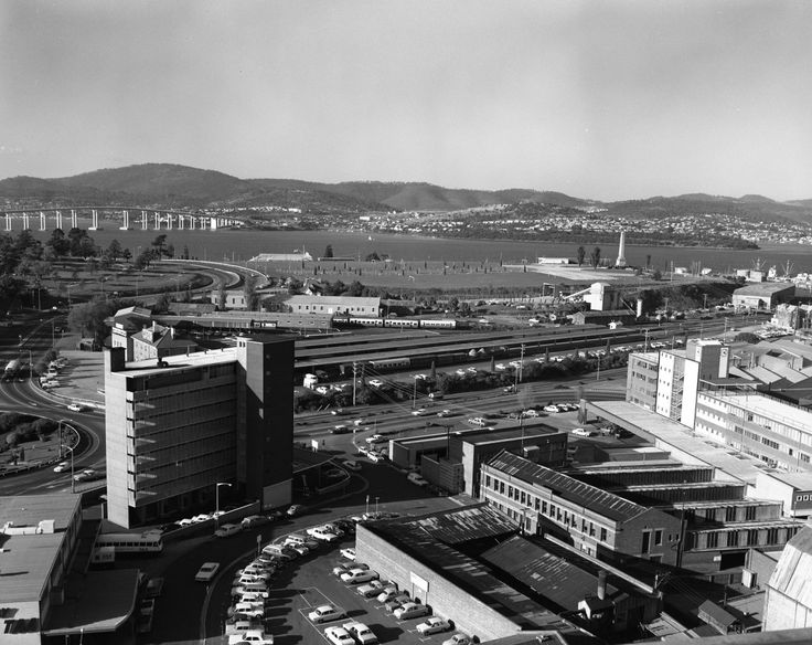 Transport Department & Hobart Railway Station - c 1964-1975