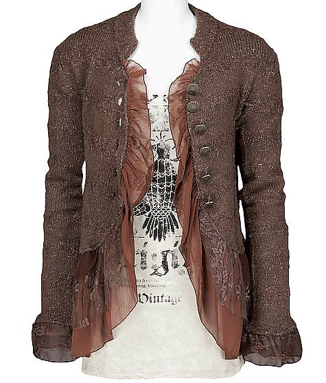 Thought this was a blazer... still a very cute sweater. Love the feminine detailing. from buckle.com