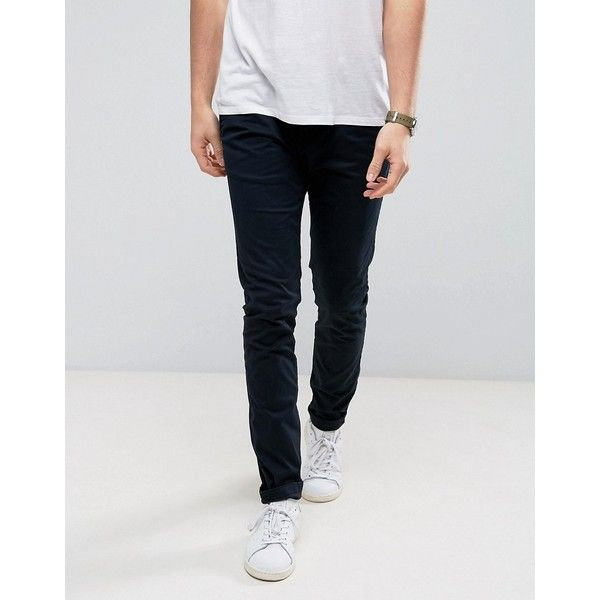 Solid Slim Fit Chinos With Stretch (88 CAD) ❤ liked on Polyvore featuring men's fashion, men's clothing, men's pants, men's casual pants, beige, mens slim fit pants, mens chino pants, mens slim pants, men's 5 pocket pants and mens slim fit chino pants
