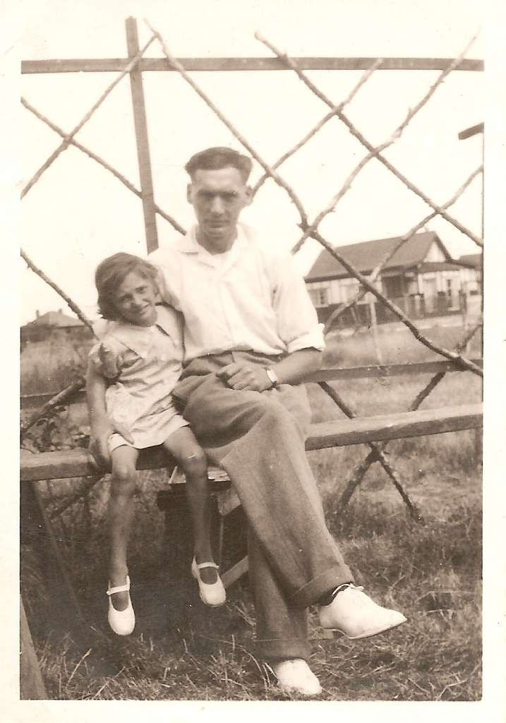 My mother Margaret with her father Horace Messer, Canvey Island 1930s.