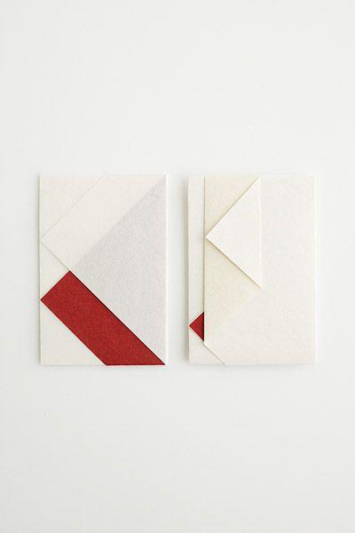折形デザイン研究所 | 商品 / 紙幣包み(小) (紅白・胡粉)