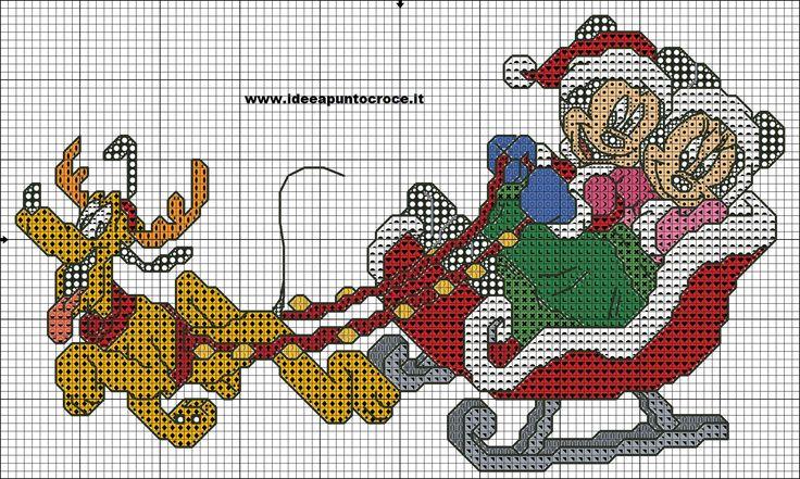 schema topolino e minni natalizi