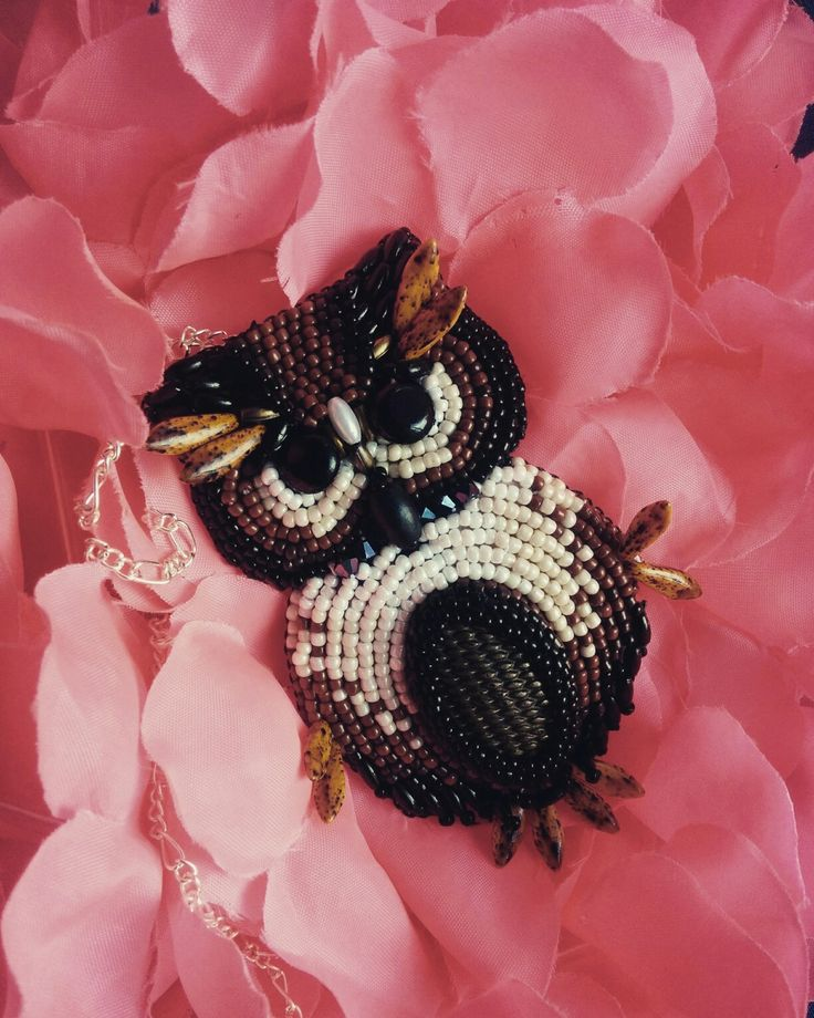 My first beaded owl