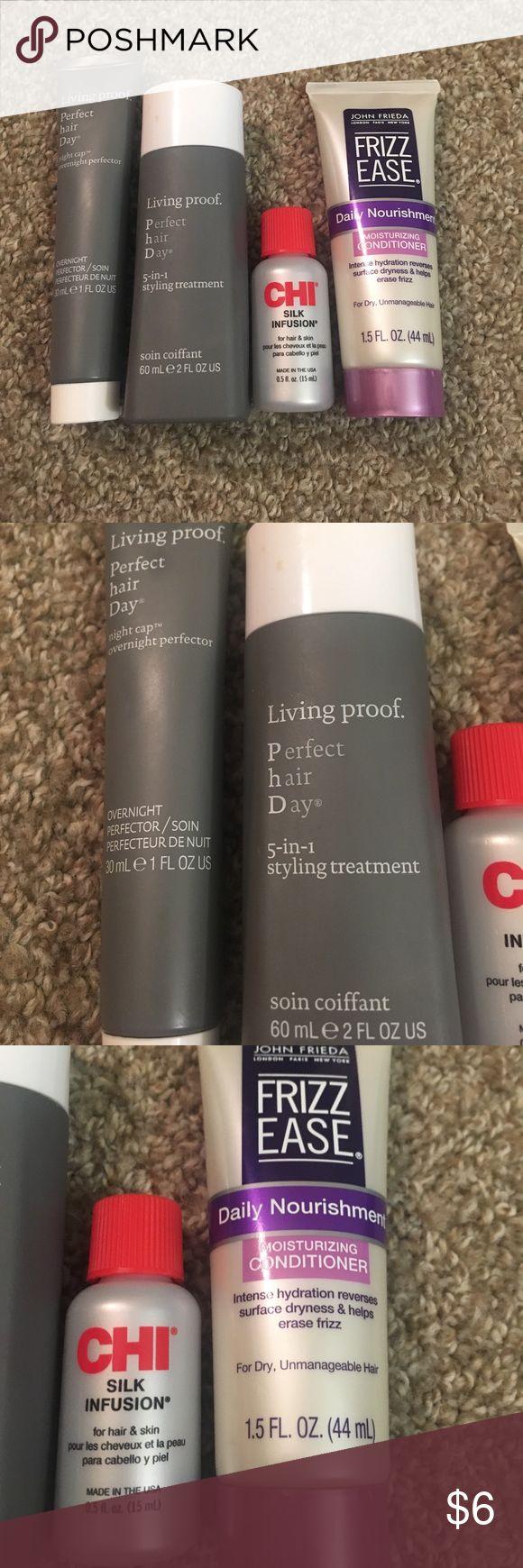 Hair care samples Living Proof, Chi and John Frieda Makeup