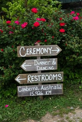 Casual Farm Wedding Signs