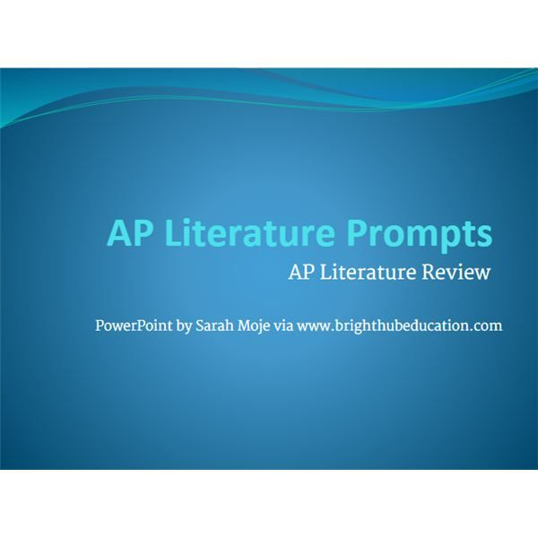 ap literature exam essay The advanced placement program argumentative essays that require students to analyze and interpret literary works ap english literature and composition sample exam questions ap english literature and composition exam structure.