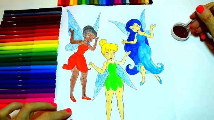 Волшебные раскраски - Учим цвета - Феи Диснея - ДИНЬ-ДИНЬ, ИРИДЕССА, СЕР...