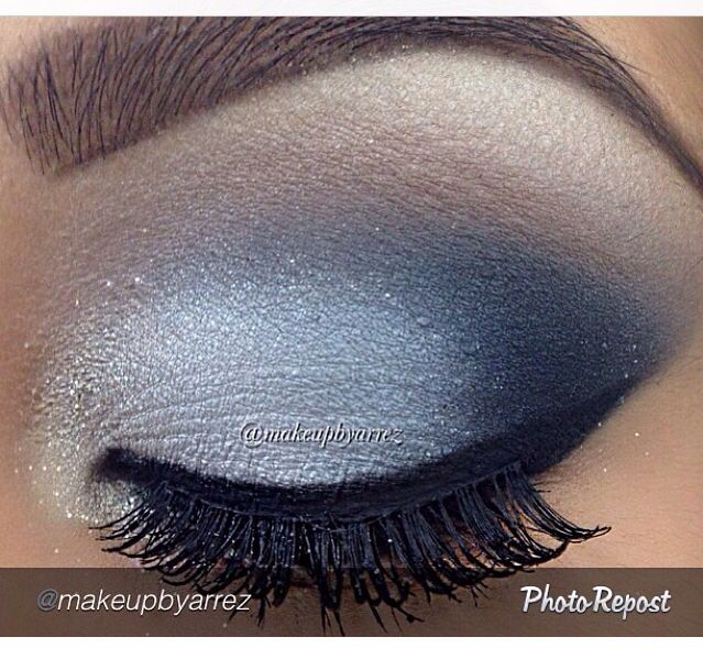 Maquillaje tonos grises