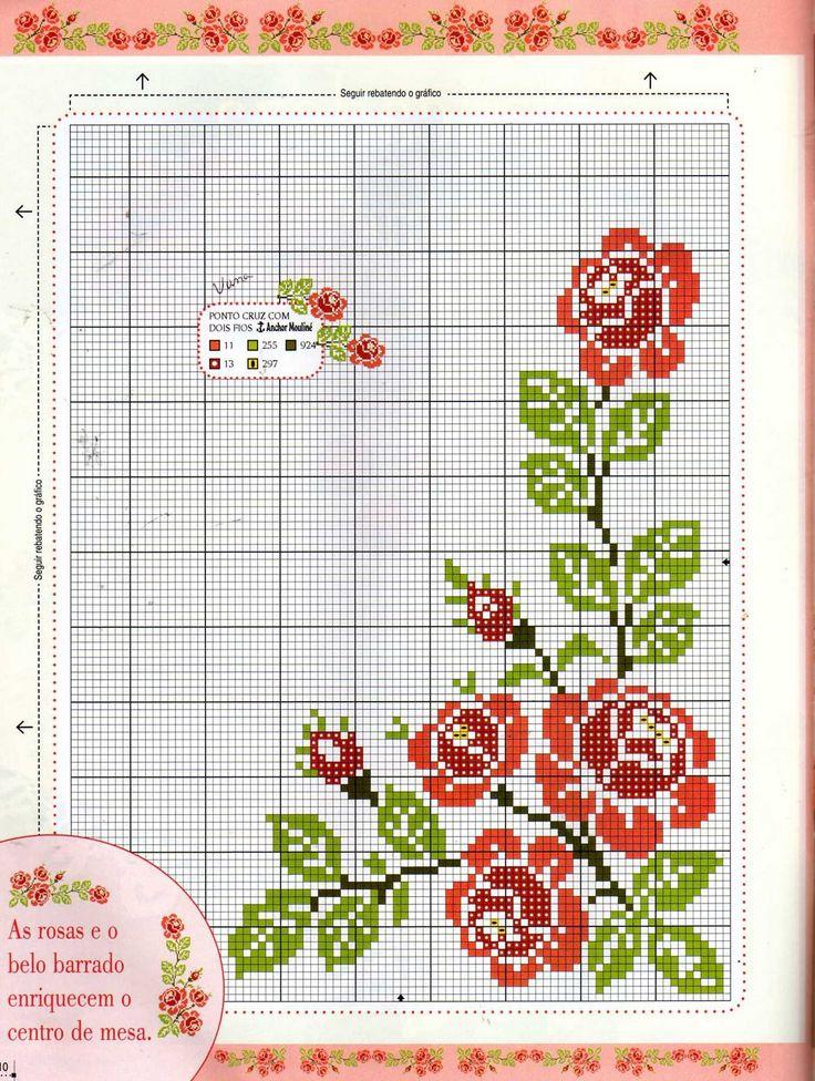 red roses corner border