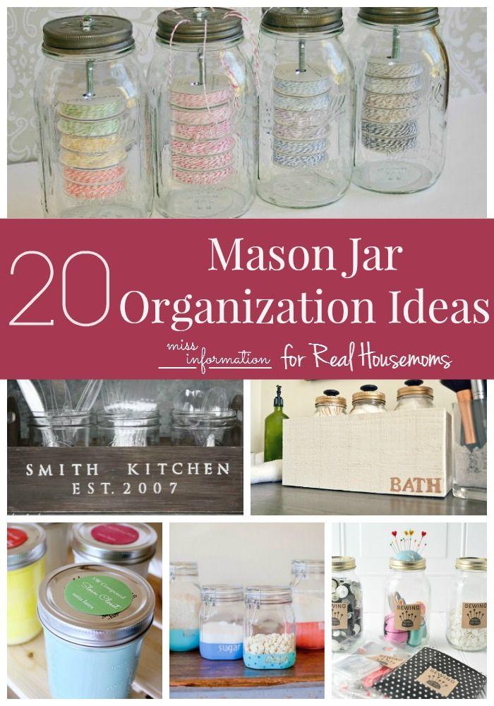Mason Jar Organization Ideas - Miss Information