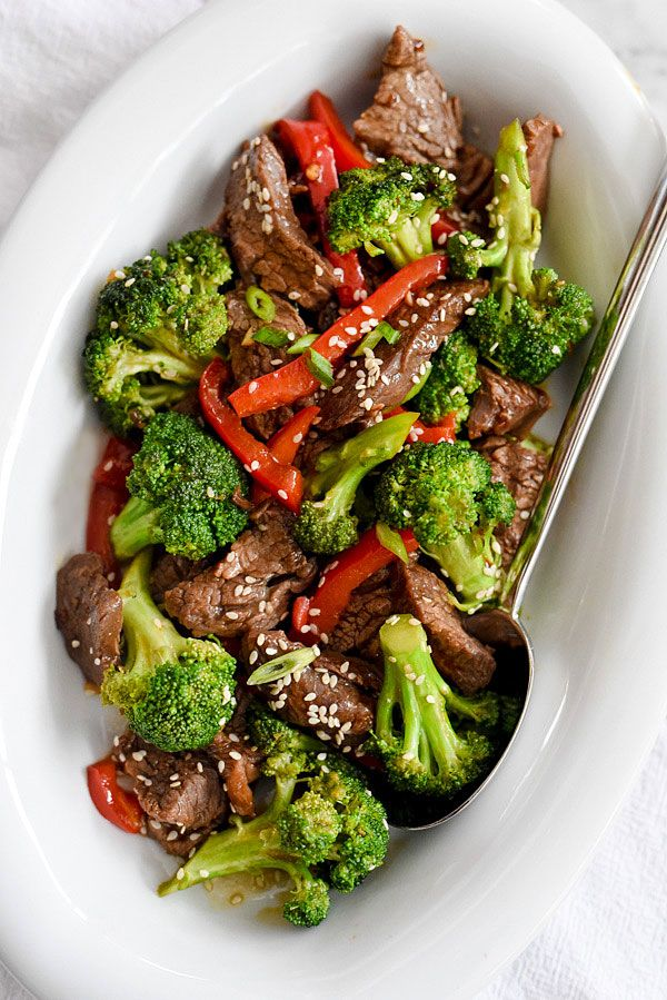 Beef with Broccoli Recipe | foodiecrush.com