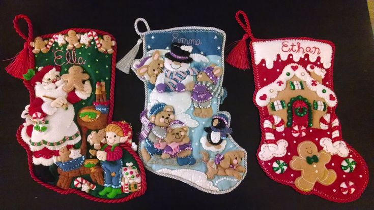 Bucilla Stockings for nieces and nephew