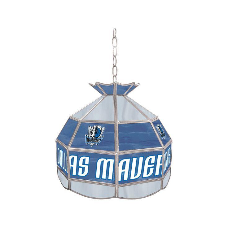 "Dallas Mavericks 16"" Tiffany-Style Lamp, Multicolor"