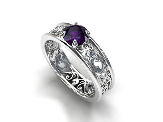 black and purple wedding rings 78 ideas about purple wedding rings on purple 1807