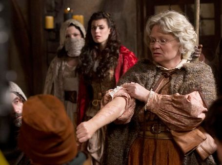 Episode 15 - Red Handed.  Scene with granny in fairy tale land talking about the wolf