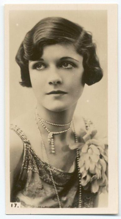 "A Bobbed Beauty ~ her hair-do was referred to as ""The Bob"" in the 1920's during the Flapper Era"