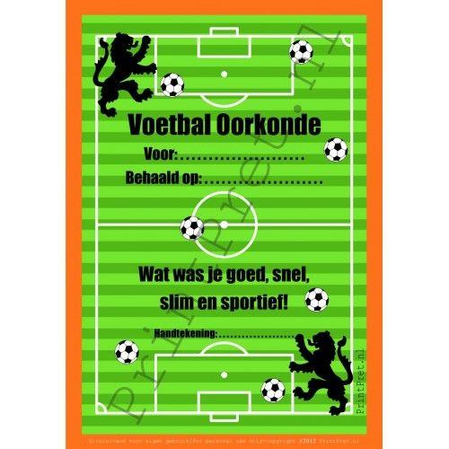 Voetbal oorkonde