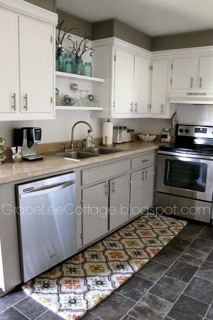 Grace Lee Cottage:  above the sink shelves