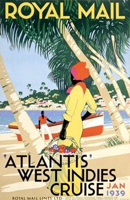 West Indies Cruise  Premium Lithograph printed on quality pape.  http://www.finelifeart.com/west-indies-cruise/