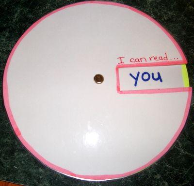 Sight word wheel