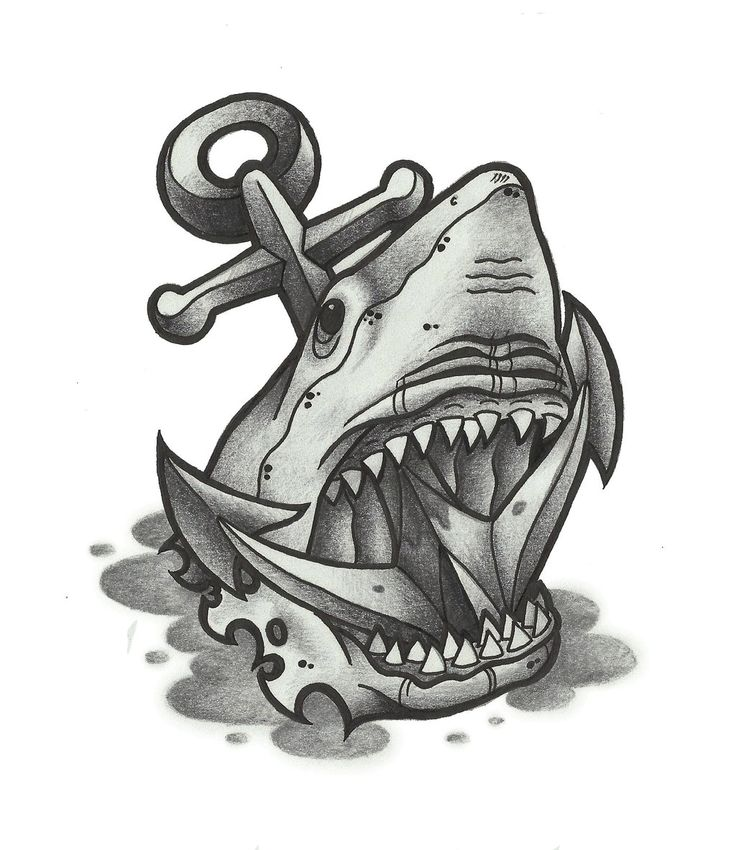shark_and_anchor_tattoo_by_funkt_green