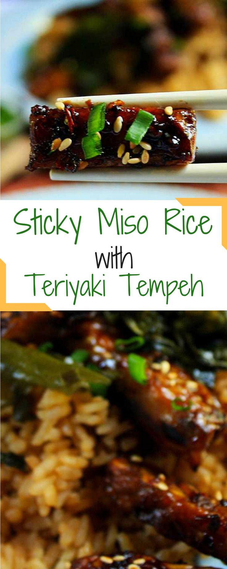 Sticky Miso Rice with Teriyaki Tempeh | Vegan.io | The easist way to follow a vegan diet