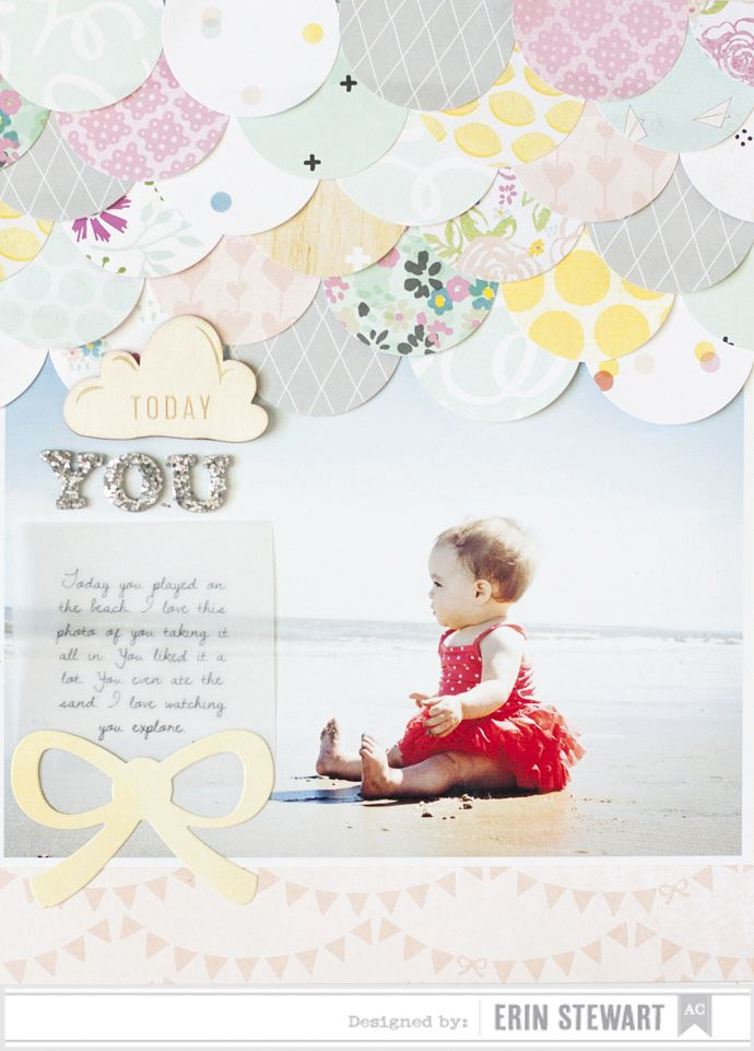 #papercraft #scrapbook #layout. Great ways to use scraps!