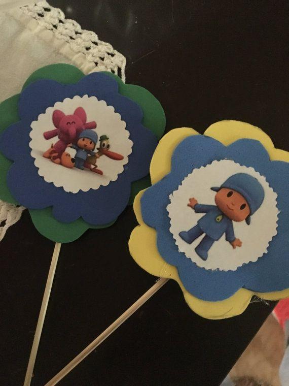 Cupcake toppers pocoyo por Yulissayolanda en Etsy