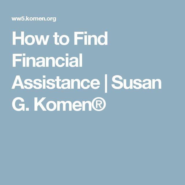 How to Find Financial Assistance | Susan G. Komen®