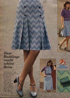 1974 Blue Skirt