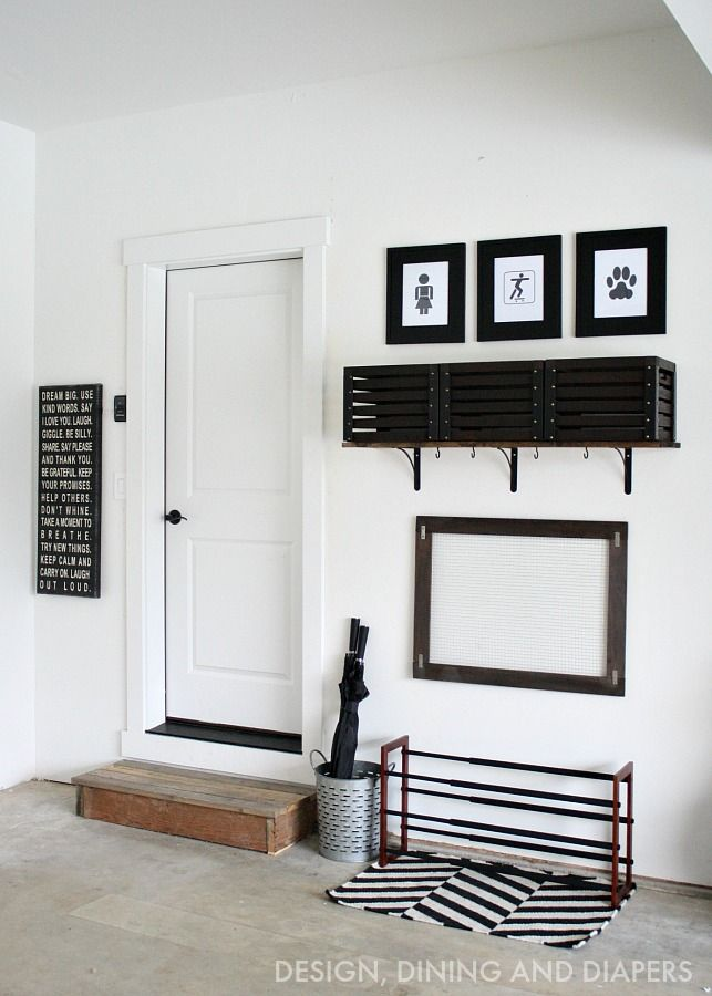 Inexpensive and easy ideas on how to create a garage mudroom! @bhglivebetter @walmart