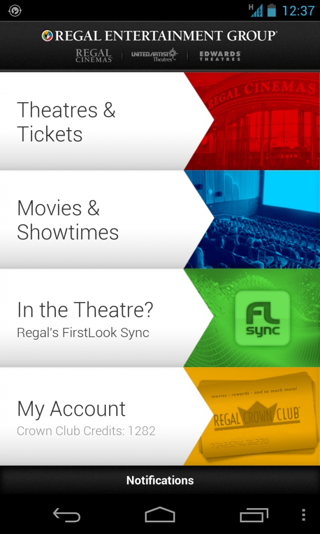 Regal Cinemas Android App Updated Now Offers Second