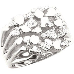 Sterling Silver Men's Nugget Ring  Price Β£110.92