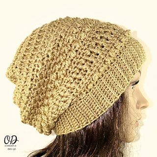 Fall Slouch Hat - free crochet pattern from Oombawka Design