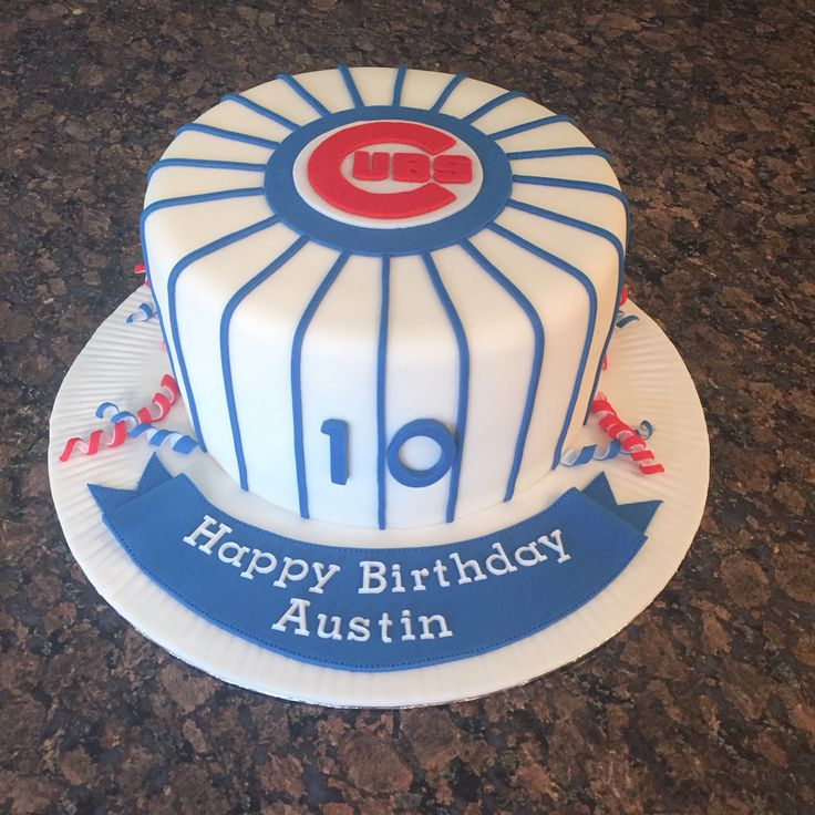 Chicago Cubs Pinata cake full of coloured candy