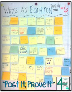 Post It, Prove it is a great way to check for understanding.  You can use this informal assessment at many point during the day, even as an exit ticket.