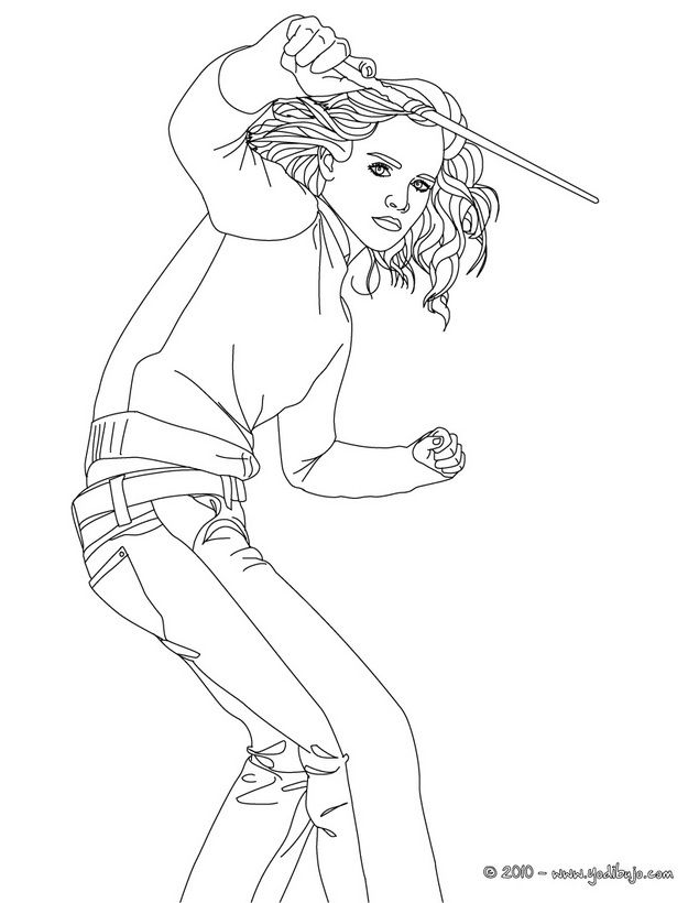 Harry Ron Hermione Coloring Pages Coloring Pages