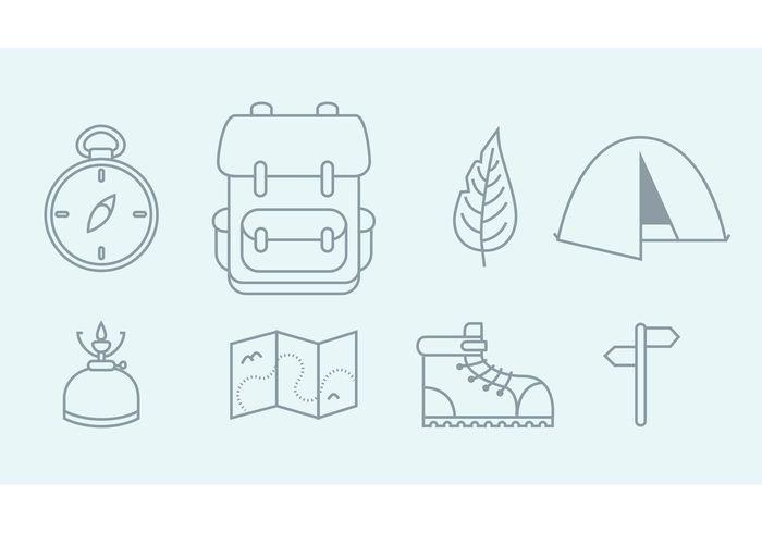 Free vector Vector Camping Icons #13361
